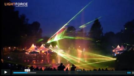 Lasershow -Wasserspiele