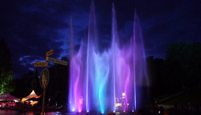 Wassershow für Stadtfest, Konzert oder Kunstfestival
